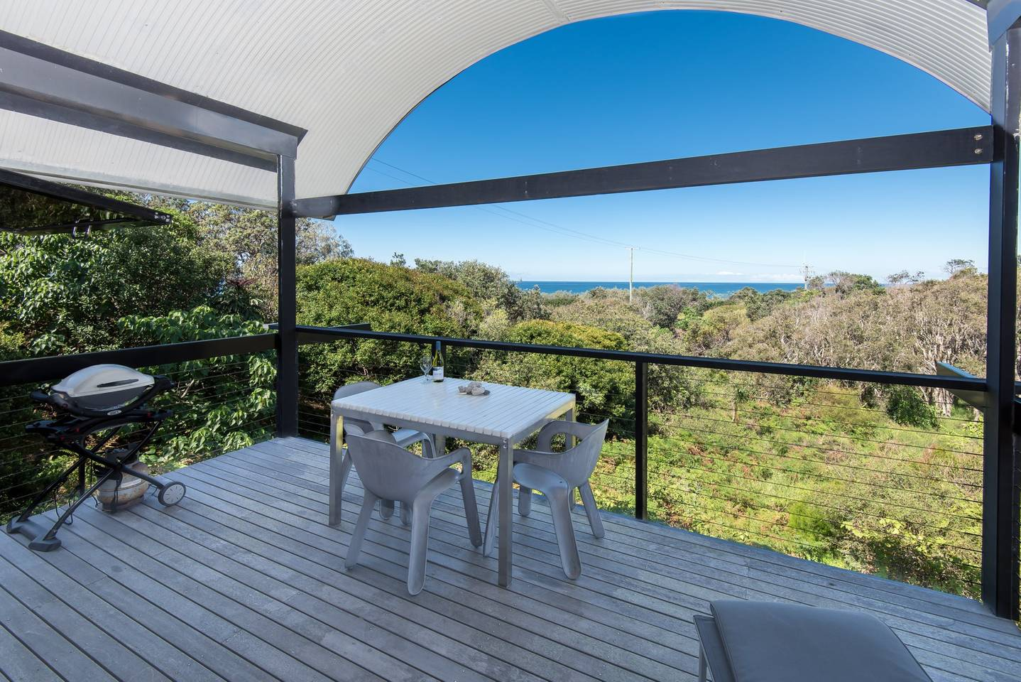 Stunning views of Castaways Beach, Noosa from an airbnb property