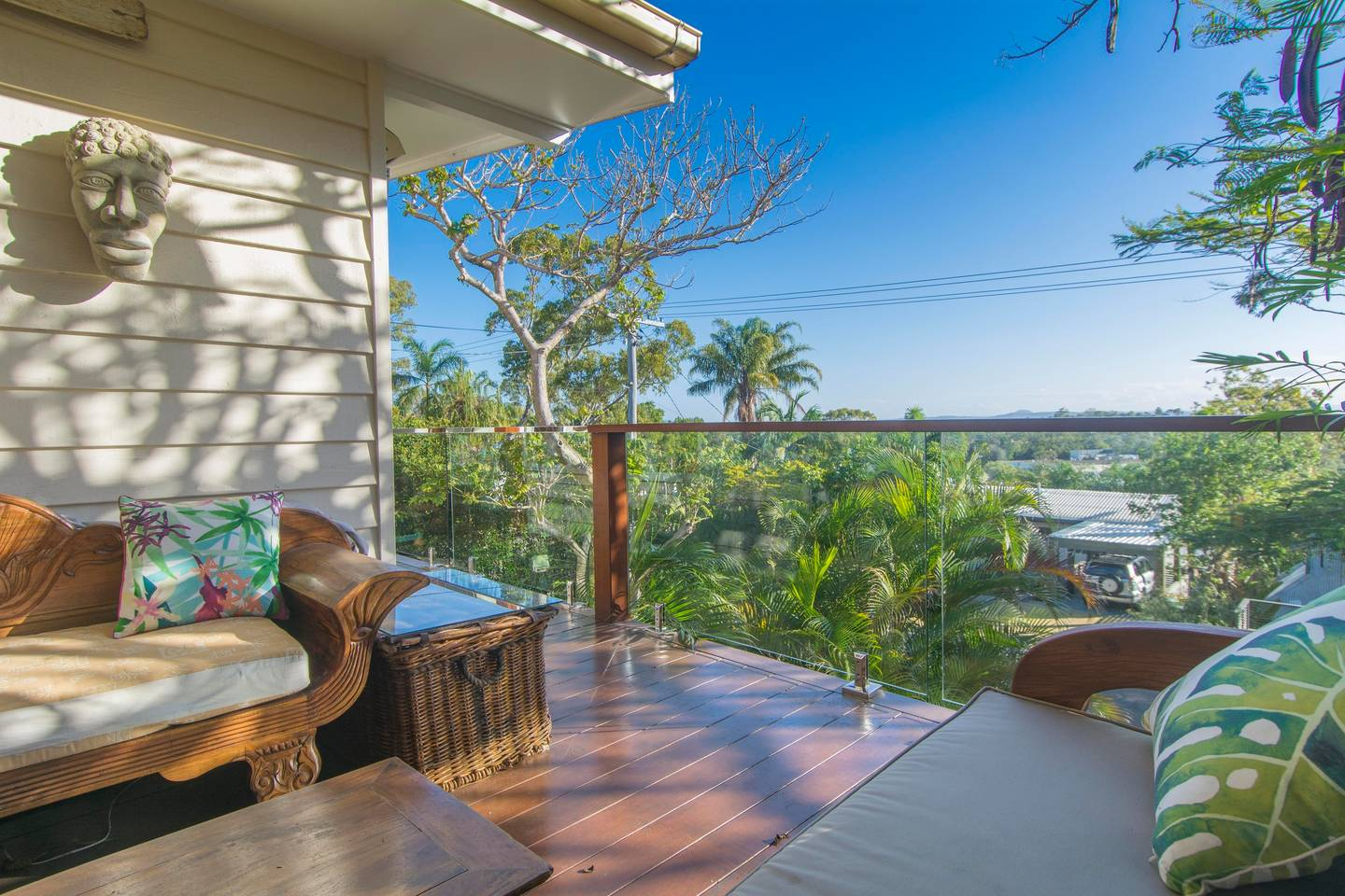 A view from a balcony of a home on the Noosa hill