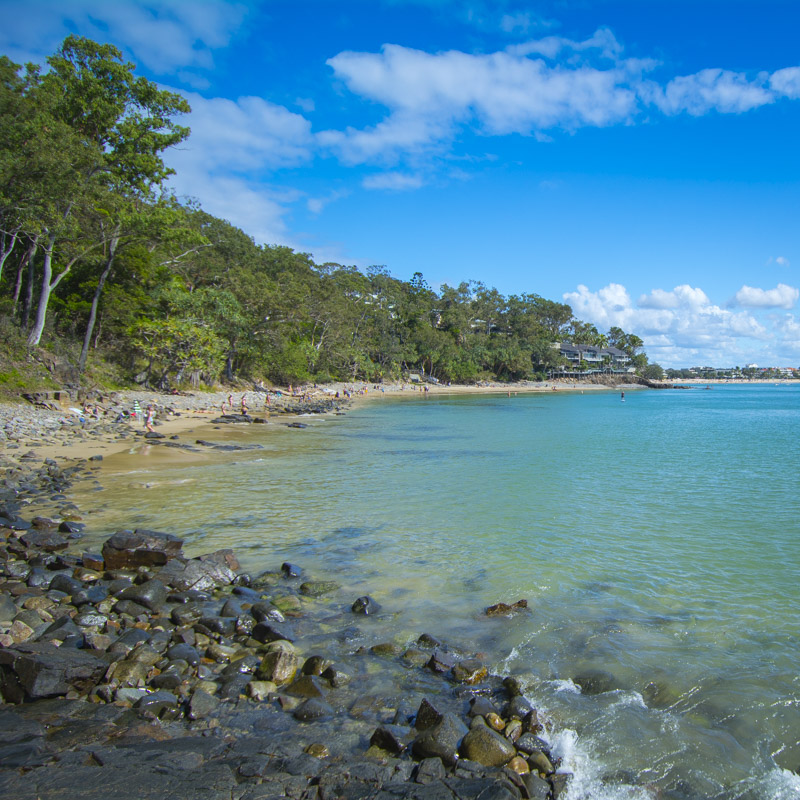 Stunning image of Noosa accommodation in Little Cove in the Noosa National Park