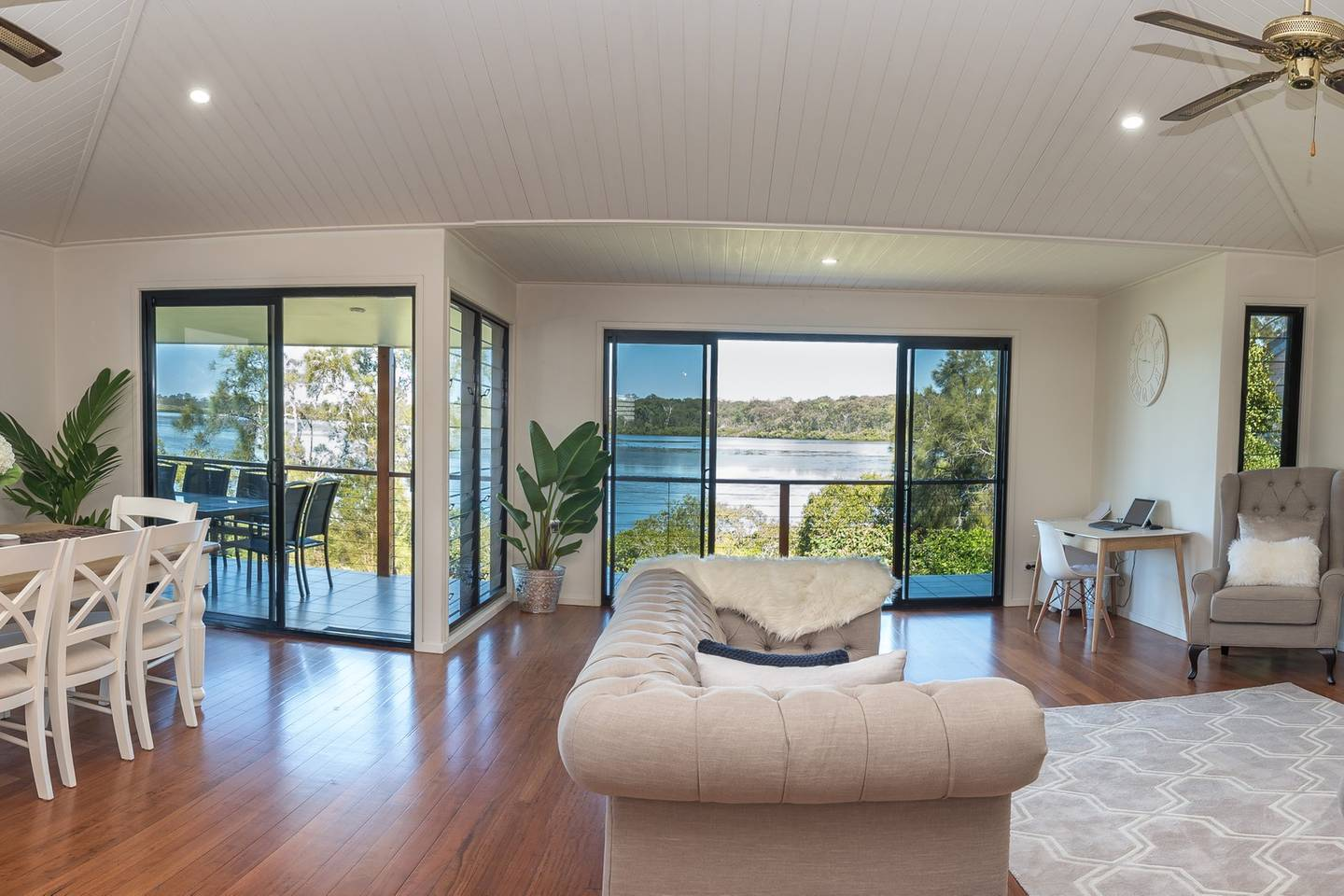 A lakefront holiday home in Tewantin on the Sunshine Coast in Queensland Australia
