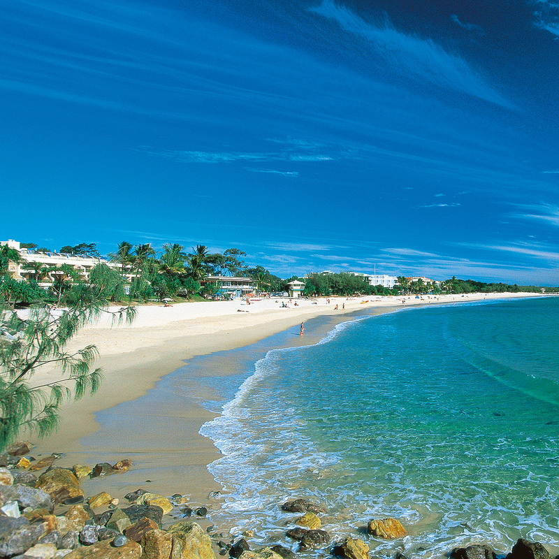 A showcase of the variety of Noosa accommodation options on Noosa Main Beach